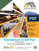 Tasmanian Craft Fair program 2017