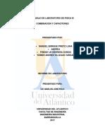 Informe de laboratorio combinacion de capacitores