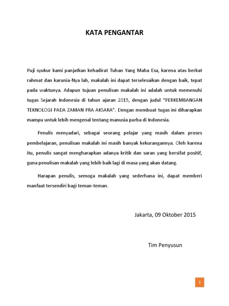Doc Makalah Perkembangan Teknologi Pada Zaman Praaksara Di Indonesia Rauda Nevilia Academia Edu