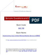 642-746 Implementing Cisco Unified Wireless Mobility Services (IUWMS) Exam Questions