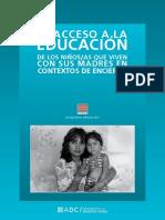 La Educación de Niños y Niñas Que Viven Con Sus Madres Presas - Adc