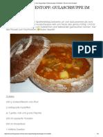 Aus Dem Suppentopf_ Gulaschsuppe Im Brotlaib – Essen Ohne Grenzen