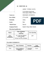 Ashok Resume