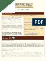 White Belt Ninja Issue 19 April 22 2003