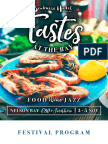 Tastes at the Bay 2017 Program