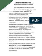 Tata Cara Verifikasi Biodata