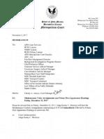 Metro Court arraingment schedule