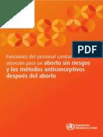 Funciones Del Personal Sanitario Para Aborto y MAC