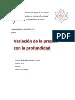 Variacion de La Presion Con La Profundidad