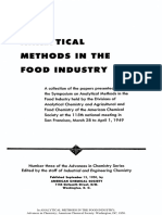 Analytical Methods in the Food Industry Advances in Chemistr