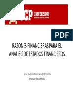2.2 Razones Financieras