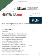 Sinaloa Desplazados Por La Violencia Choix El Fuerte