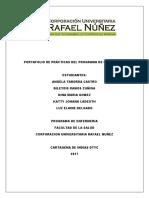 Portafolio de Prácticas Del Programa de Enfermeria