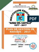 Plan de Gestion de Riesgos LANGUI 2017