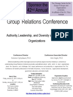 NU Group Relations Conference Brochure 2017