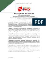 Ley Nº 3038 Transferencia de 20% del 45% de las Regalías de G. Chaco