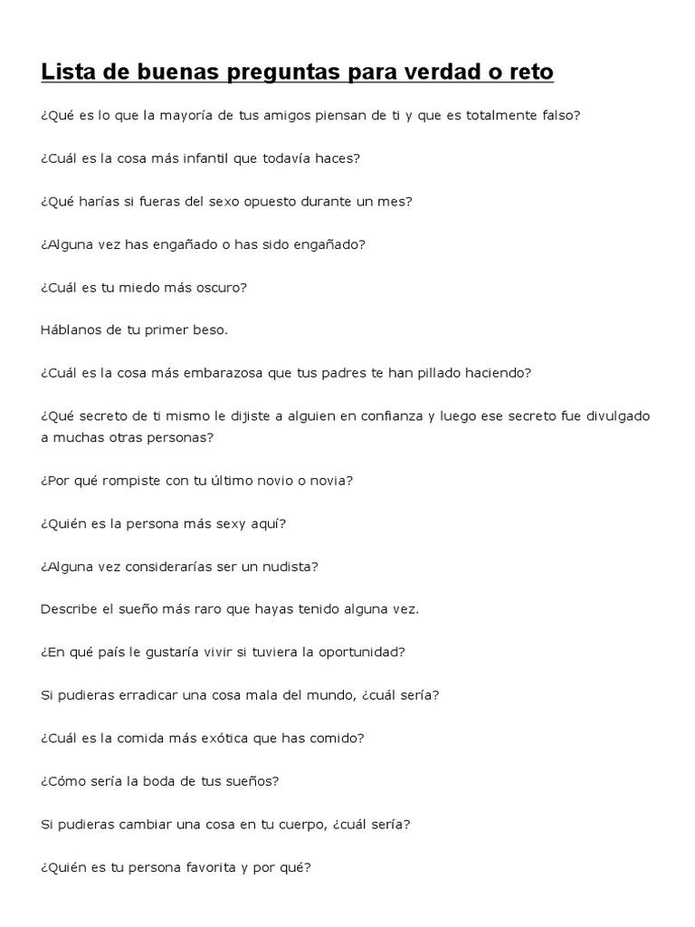 101 Preguntas Para Verdad O Reto Buenas Y Fuertes Lifeder Ocio