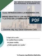Unidad Didactica v - Los Valores Morales y Eticos