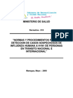 N 018 NormaProcedimientosDeteccionInfluenzaHumanaAH1N1.6841