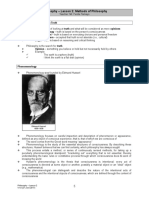2. Philosophy - Methods of Philosophy