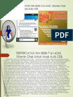 TERPERCAYA!! WA 0858-7161-4243, Vitamin Otak Untuk Anak Autis OSB
