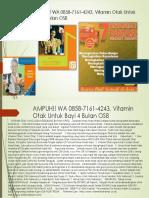 AMPUH!! WA 0858-7161-4243, Vitamin Otak Untuk Bayi 4 Bulan OSB