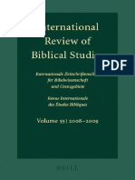 Lang, Ed._ International Review of Biblical Studies
