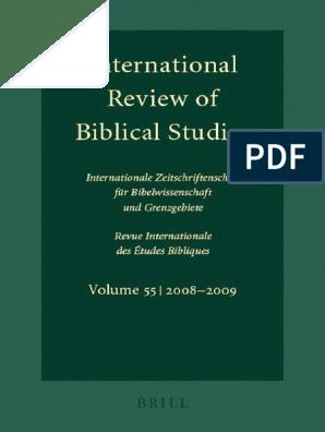 Lang, Ed _ International Review of Biblical Studies