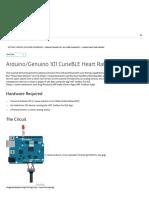 Arduino - Genuino101CurieBLEHeartRateMonitor