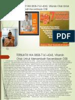 TERBUKTI!! WA 0858-7161-4243, Vitamin Otak Untuk Menambah Kecerdasan OSB