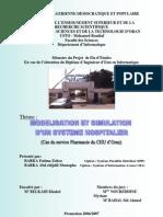 Modélisation et Simulation d'un système Hospitalier