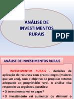 Análise de Investimentos Rurais