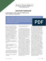 Factor de Necrosis Tumoral en AR