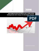 Descomposición Histórica de La Inflación en El Perú