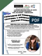 Directiva 037-2017 UGEL-S/AGP-EES Comprension Lectora y Produccion de Textos Escritos 2017