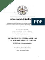 Antinutrientes Proteicos de Las Leguminosas Tipos, Toxicidad y Efectos Fisiológicos.