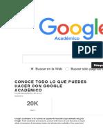 Conoce Todo Lo Que Puedes Hacer Con Google Académico