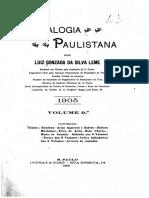 09 Genealogia paulistana Tomo IX - Luiz Gonzaga da Silva Leme (1904)