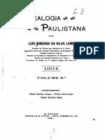 05 Genealogia Paulistana Tomo V - Luiz Gonzaga da Silva Leme (1904)