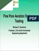 Fine Pore Aeration Systems Testing