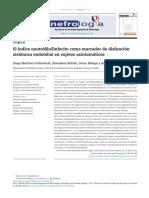 El ILN Como Marcador de Disfunción Sistémica Endotelial en Asintomáticos