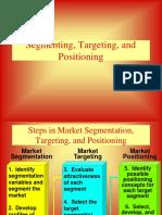 Segmentation targeting positioning (STP)