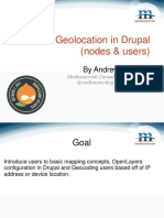 Geolocation in Drupal (nodes & users).ppt