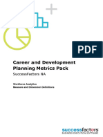 Career and Development Planning Metrics Pack NA