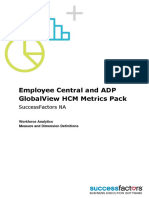Employee Central and ADP GlobalView HCM Metrics Pack NA