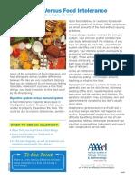 EL Food Allergies vs Intolerance Patient