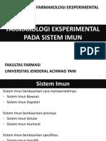 08 - Farmakologi Eksperimental - Sstem Imunologi