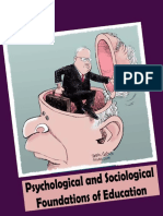 Psychological and Sociological Foundations of Education