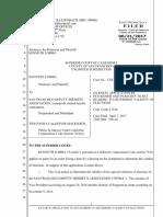 Ex Parte Application for a Temporary Restraining Order