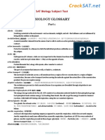SAT Subject Biology Glossary